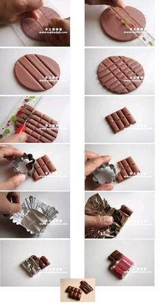 DIY Polymer Clay Chocolate Tutorial by luz