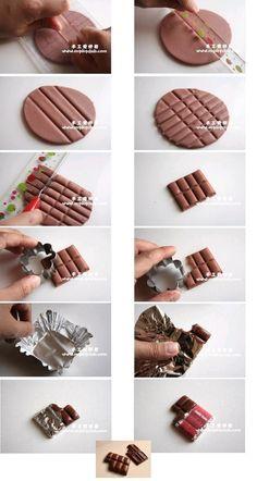 DIY Polymer Clay Chocolate Tutorial by luz