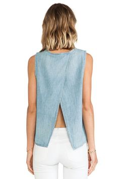 rag & bone/JEAN rag & bone Nicole Tank в цвете Лунный свет Look Fashion, Fashion Beauty, Looks Style, My Style, Revolve Clothing, Refashion, Playing Dress Up, Spring Summer Fashion, Dress To Impress