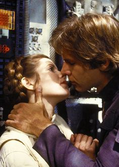 Han Solo and Princess Leia in Star Wars: Episode V - The Empire Strikes Back