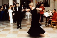 John Travolta dancing with Princess Di-- the Reagan's are in the background. This would have been an awesome party.