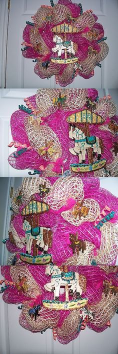 Wreaths 16498: Carousel Homemade Oasis Mesh Wreath -> BUY IT NOW ONLY: $80 on eBay!