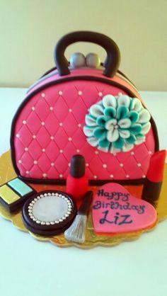 Handbag and make up cake