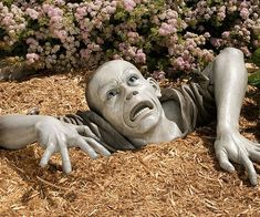 Zombify up your lawn and disturb all your pesky neighbors with this lawn zombie decoration. Perfect for Halloween decorating - the zombie decoration looks like a fresh and hungry zombie ripping its way up to the earth for some delicious braainnssss.