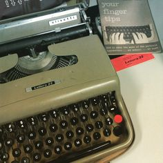 ) Olivetti typewriter with manual and portable case. Olivetti Typewriter, Portable House, Manual, Pride, Italy, Vintage, Italia, Gay Pride