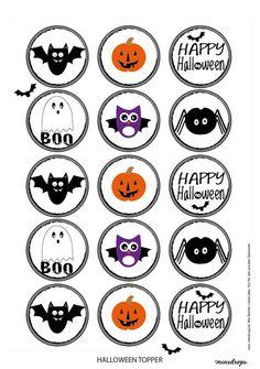 Printables eignen sich nicht nur als Maske super, sondern auch für die Dekoration von Speisen, wie beispielsweise Cupcakes. Hiermit kann eure spooky Halloweenparty beginnen!