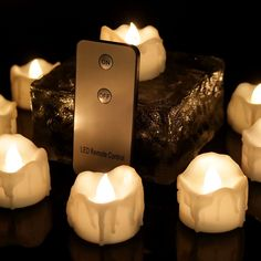 Sale:$15.99  Amazon.com: Youngerbaby Warm White Flickering LED Tea Light Candles, Flameless Wax Dripped with Remote Control Battery-Powered Tealights For Wedding, Christmas, Outdoor Party, Dinner Table, Back Yard 12 PCS: Home Improvement