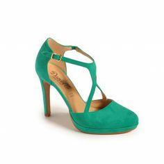 Scarpa Camoscio - smeraldo