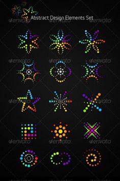 Abstract Vector Design Elements Set - Abstract Conceptual