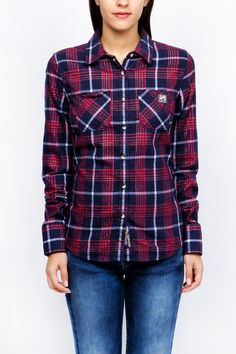 Superdry, Plaid, Woman, Winter, Shirts, Tops, Fashion, Gingham, Winter Time