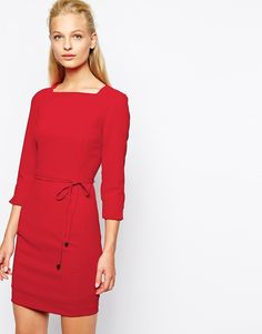 Mango Crepe 3/4 Sleeve Dress