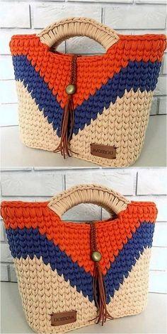 trending design of crochet bag Tricot et Crochet Simple Yet Attractive Crochet For Various Projects Bag Crochet, Crochet Handbags, Crochet Purses, Crochet Gifts, Cute Crochet, Crochet Stitches, Crochet Baby, Crochet Things, Crochet Men