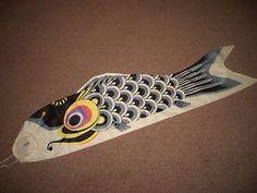 Japanese-Vintage-Koinobori-Koi-Nobori-Fabric-Carp-Streamer-Wind-Sock-Nylon-45