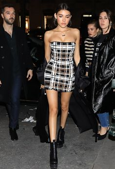 Madison Beer arriving at the Balmain After Show Party in Paris