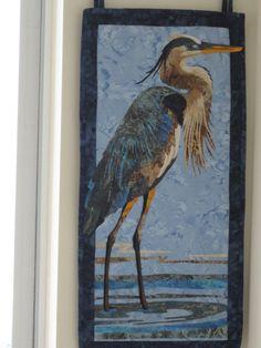 Sentry Watching  Great Blue Heron Wall Art  by BatiksBySandcastle