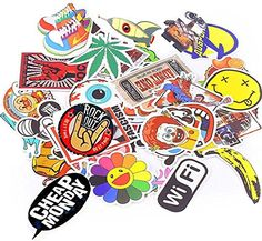 Xpassion Car Stickers Decals Pack 100 Pieces Bumper Stick...