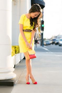 Bright sunny yellow
