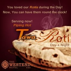 We're delighted to announce something that our customers have always been requesting us to do! Serving hot #TAWAROTIS now! 24*7! So order anytime, sit back and enjoy. @Hotelthewestend