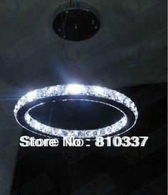 189.00$  Buy now - http://alimyx.worldwells.pw/go.php?t=32612371269 - NEW 40cm 50CM Modern LED Round Crystal Lamp Diamond Ring Ceiling Light Lighting EMS FREE SHIPPING 189.00$