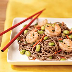 Soba Noodle Salad with Citrus Vinaigrette - Quick and Easy Salad Recipes - Cooking Light