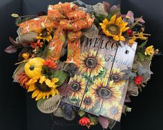 Welcome Friends Wreath by Andrea