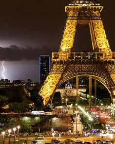 Thunderstorms over Paris. France /