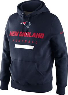 New England Patriots Navy Nike Classic Hooded Sweatshirt. You can almost picture Bill Belichick wearing this on the Pats sideline #patriots #nfl #football