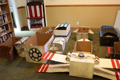 Star Wars Party - Cardboard Box Spaceships!
