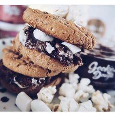 Gookie dough triple chocolate fudge makes the perfect filling . . @rebeccajaydex