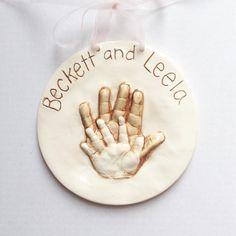 Sibling Keepsake Print - Personalized Sibling Keepsake Print - Custom Sibling Handprint Art - Sibling Keepsake - Sibling Art Print - Ceramic