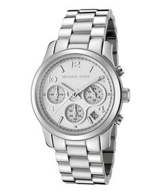 This Stainless Steel Chronograph Watch by Michael Kors is perfect! #zulilyfinds