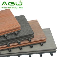 Outdoor no paint plastic wood flooring anti-UV wpc decking boards for flooring