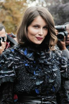 Chanel Photos - Laeticia Casta at the Chanel Spring-Summer 2013 collection show held at Grand Palais as part of the Paris Fashion Week in Paris, France. Laetitia Casta, Guess Girl, French Models, Actrices Hollywood, French Beauty, Classic Actresses, Metal Girl, French Actress, French Girls
