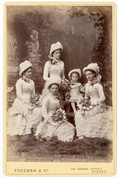 Knox family bridesmaids, Sydney, March 1882 / photographer Freeman & Co., Sydney.