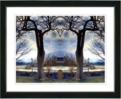 Homestead - Blue by Mia Singer Framed Fine Art Giclee Painting Print