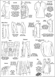 I know it's a little cramped, but here's a fabric type/clothing tutorial. I was recently requested to create this, hopefully it will cover what's needed, but if there's more that you wish to see se...