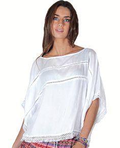 Blusa blanca de algodón www.dievaclothes.com