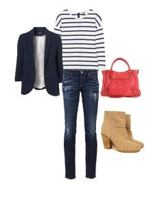 stripes + a blazer = always classic! (add a balenciaga and then it's just awesome)