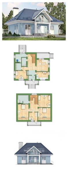 Two Story House Plans with mansard roof, spacious Design Blueprints, House Expert House Layout Plans, Craftsman House Plans, House Layouts, Colonial Exterior, Modern Exterior, Brown Decor, Facade House, Cottage, House Design