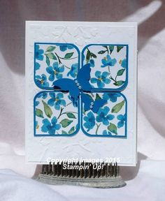Paper:  Whisper White, Pacific Point cardstock, Painted Blooms DSP Misc:  Elegant Butterfly Punch, Bitty Butterfly Punch, Project Life Corner Punch, Spring Flowers EF, Pearl Basic Jewels
