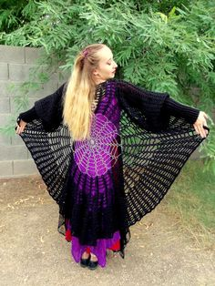 Raven Wings Spiderweb Mandala Tunic Vest and by elorascastle, $8.99