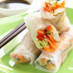 Healthy Recipe Ideas from Kayla Itsines: Cold Chicken Avocado Rolls