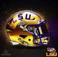 Lsu Tigers Football, Pro Football Teams, Saints Football, Custom Football, Vintage Football, Cool Football Helmets, Football Helmet Design, Lsu Helmet, College Football Uniforms