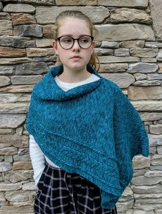 Braided Cable Wrap or Poncho Crochet PATTERN Shawl | Etsy