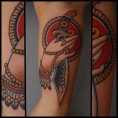 Tony Nilsson as featured on www.swallowsndaggers.com #tattoo #tattoos #dagger
