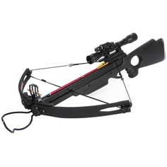 150 lb Black Compound Crossbow Bow Scope +20 Arrows +Laser +6 Broadheads +Quiver