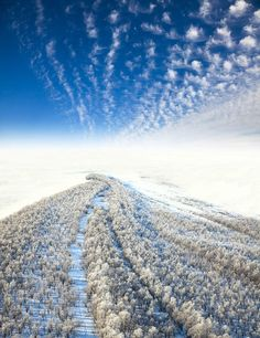 Frosty landscape, the top view by Vladimir Melnikov, via 500px