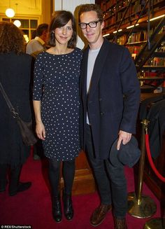 Benedict Cumberbatch & Sophie Hunter at The London Library Christmas Party 2016
