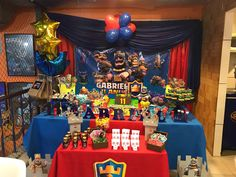 Aniversario do meu filhote. As noites viradas acordada cortando e colando valeram a pena. Ficou lindo 10th Birthday Parties, Birthday Cake, Royal Party, Clash Of Clans, Pokemon, Candy, 10 Year Anniversary, Pup, Wings