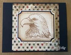 """By Patsy Collins. Eagle stamp from  """"In God We Trust"""" by Our Daily Bread Designs."""